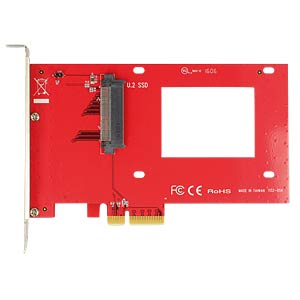 PCIe x4 Card > 1 x internal U.2 NVMe SFF-8639 DELOCK 89518