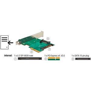 Delock PCIe x4 > U.2 Stecker NVMe DELOCK 89673