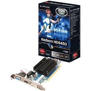 Sapphire Radeon HD 6450 — 2 GB — passive SAPPHIRE 11190-09-20G