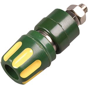 Hirschmann pole terminal, 4 mm, yellow/green HIRSCHMANN TEST & MEASUREMENT 930103188