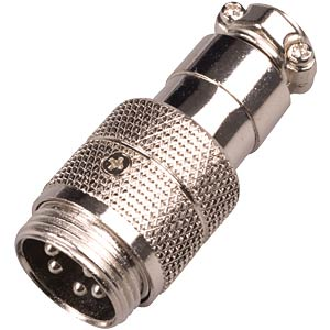 Microphone plug for radio devices, 5-pin FREI