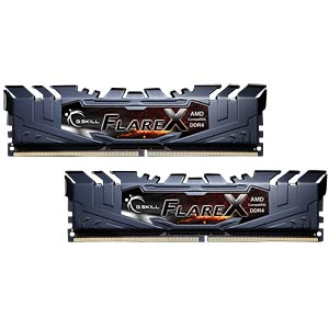 16GB DDR4 2400 CL15 GSkill Flare X 2er Kit G.SKILL F4-2400C15D-16GFX