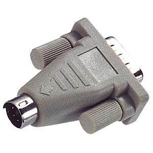 PS/2 adapter, PS/2 to 9-pin D-Sub, BU/ST FREI