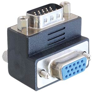 Adaptor VGA plug/jack 90° angulated DELOCK 65289