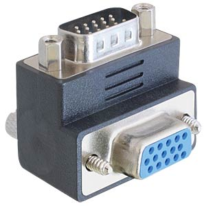 Adaptor VGA plug/jack 270° angulated DELOCK 65290