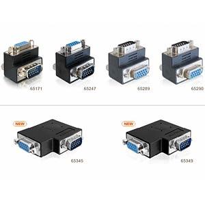 Adapter VGA Stecker/Buchse 90° seitlich gewink. DELOCK 65345