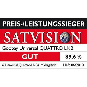 LNB, Quattro, 40 mm, HDTV geeignet GOOBAY 67271