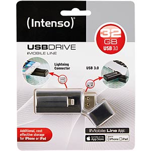 USB-Stick, USB 3.0, 32 GB, iMobile Line, Lightning INTENSO 3535480