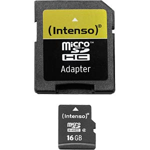 Micro-SDHC-kaart 16GB - Intenso INTENSO 3403470
