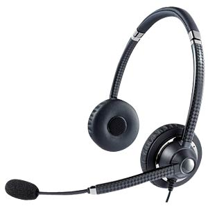 Headset, USB, VoIP, Stereo, UC VOICE 750 MS Duo Dark JABRA 7599-823-309