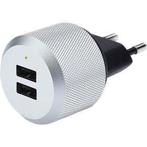 AC wall charger with two USB ports JUST MOBILE PA-168EU