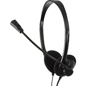 Stereo headset, headphones with microphone LOGILINK HS0001