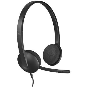 Headset, USB, Stereo, H340 LOGITECH 981-000475