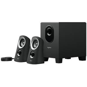 Logitech 2.1 Lautsprechersystem, schwarz LOGITECH 980-000413