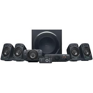 Logitech 5.1 Lautsprechersystem, schwarz LOGITECH 980-000468