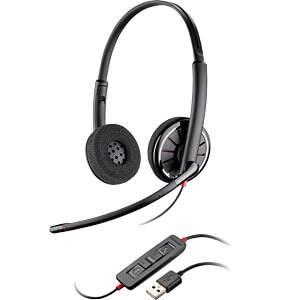 Headset, USB, Stereo, Blackwire C320-M PLANTRONICS 85619-01