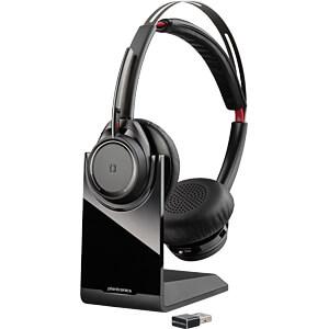 Headset, Bluetooth, Stereo, Voyager Focus B825 PLANTRONICS 202652-01