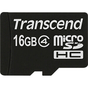 MicroSDHC-geheugenkaart 16GB Transcend Class 4 TRANSCEND TS16GUSDC4