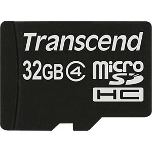 MicroSDHC-Speicherkarte 32GB, Transcend Class 4 TRANSCEND TS32GUSDC4