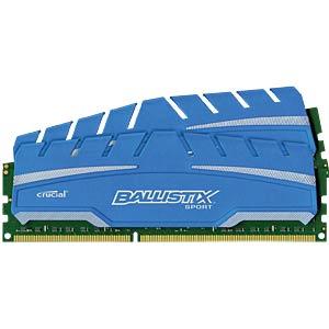 8 GB DDR3 1600 CL9 Ballistix Sport XT 2er Kit BALLISTIX BLS2C4G3D169DS3CEU