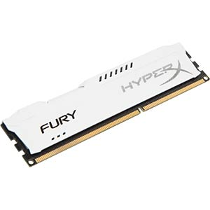 8 GB DDR3 1600 CL10 Kingston Fury weiss HYPERX HX316C10FW/8