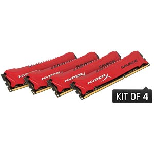 32 GB DDR3 1866 CL9 Kingston Savage 4er Kit HYPERX HX318C9SRK4/32