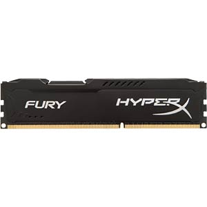 Barrette de mémoire Kingston Fury noire 8Go DDR3 1866 CL10 HYPERX HX318C10FB/8