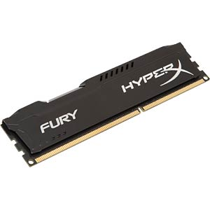 4 GB DDR3 1600 CL10 Kingston Fury schwarz HYPERX HX316C10FB/4