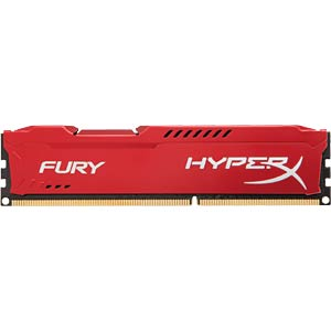 8 GB DDR3 1600 CL10 Kingston Fury rot HYPERX HX316C10FR/8