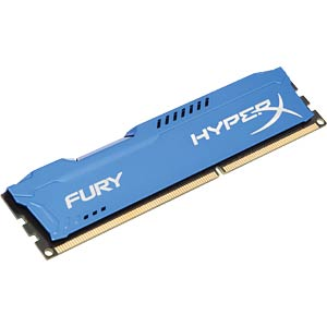 4 GB DDR3 1600 CL10 Kingston Fury blau HYPERX HX316C10F/4