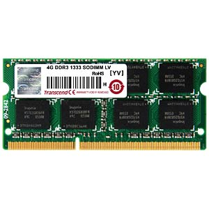 4 GB SO DDR3 1333 CL9 Transcend TRANSCEND JM1333KSN-4G