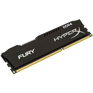 16 GB DDR4 2666 CL15 HyperX Fury 2er Kit HYPERX HX426C15FBK2/16