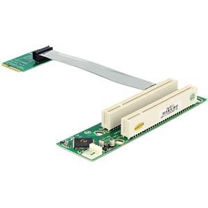 MiniPCIe Riser-Karte > 2 x PCI 32bit/5V DELOCK 41355
