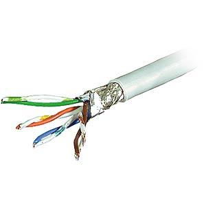 CAT-7 Patchkabel, S/FTP PiMF, 25m Ring DRAKA 1001134-00025RW