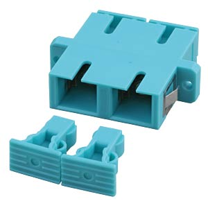 SC/SC duplex adapter Multimode, aqua, ceramic EFB-ELEKTRONIK 53356.1