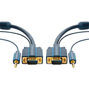 Casual VGA and audio connecting cable, 7.5 m CLICKTRONIC 70133