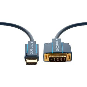 Casual DP/DVI adapter cable 20 m CLICKTRONIC 70735