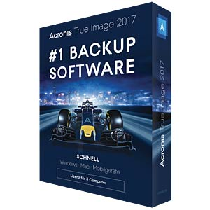Software, True Image 2017, 3 Computer (UK) ACRONIS TI3XB2UKS
