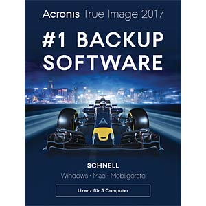 Acronis True Image 2017 - 3 Computer (UK) ACRONIS TI3XB2UKS