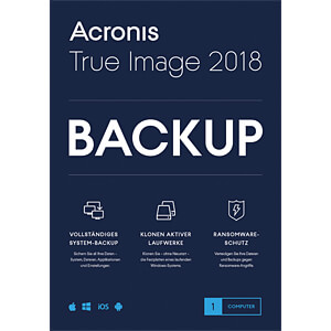 Software, True Image 2018, 1 Computer (UK) ACRONIS TIHOB2UKS