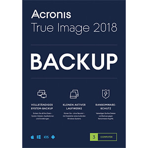 Software, True Image 2018, Backup-Software, 3 Geräte ACRONIS TI3OB2DES