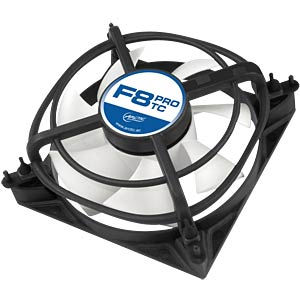 Arctic housing fan F8 PRO TC, 80 mm ARCTIC AFACO-08PT0-GBA01