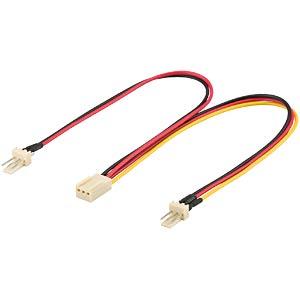 Molex-Y-Kabel 0,22m, Stecker und Buchse FREI