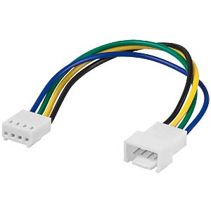 4-pin 15-cm fan extension cable, male>female FREI