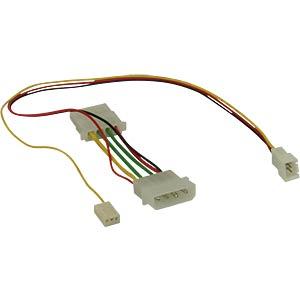 Adapterkabel 4pin auf 3pin (Molex), 7 Volt INLINE 33007T