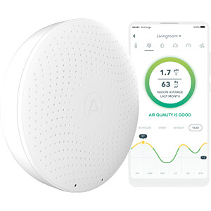 Radon monitor with app control AIRTHINGS WAVE PLUS