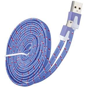 USB 2.0 > mini-B TEXTIL lila 2,0 m FREI