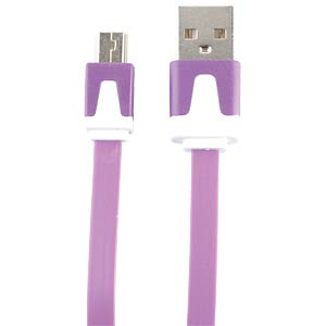 USB 2.0 > mini-B flat cable, lilac 2.0 m FREI