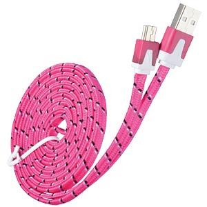 USB 2.0 Kabel, A Stecker auf Mini B Stecker, Textil, 2,0m GOOBAY 68795