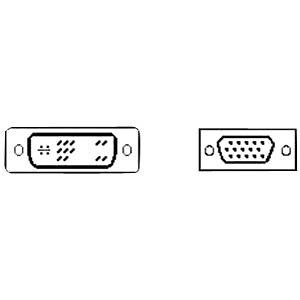 DVI-Kabel 12+5 Stecker/VGA HD15 Stecker 1,8m FREI